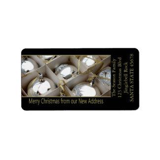 De nuestros nuevos ornamentos de la plata de la etiquetas de dirección