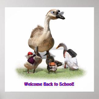 ¡De nuevo a escuela, pequeños patos! Impresiones