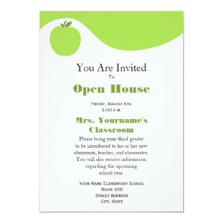 De nuevo a la invitación de la casa abierta de la invitación 12,7 x 17,8 cm