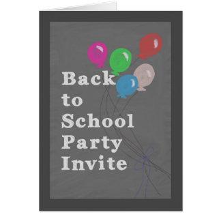 De nuevo a la invitación del fiesta de la escuela,