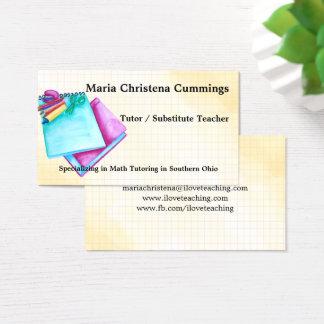 De nuevo a tarjeta de la enseñanza de la acuarela