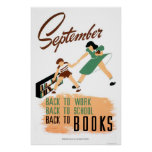 De nuevo al trabajo de la escuela WPA 1940 Posters