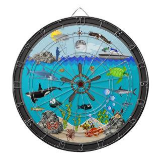 De objetivos múltiples submarino tablero dardos