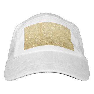 De oro de lujo brillante del brillo gorra de alto rendimiento