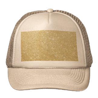 De oro de lujo brillante del brillo gorras de camionero