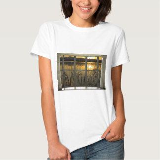 de oro-gemelo-pico-lago-ventana-vista camiseta