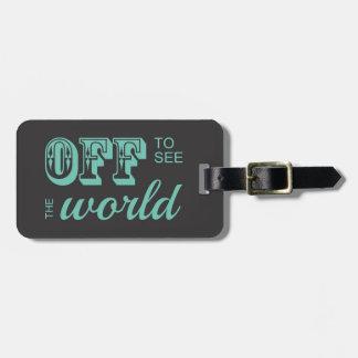 De para ver el mundo - trullo - para el aventurero etiquetas para maletas