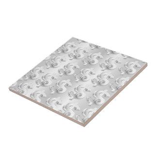 $ $ de plata azulejo cuadrado pequeño