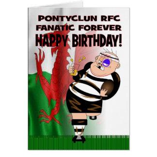 De Pontyclun del RFC del fanático tarjeta de cumpl