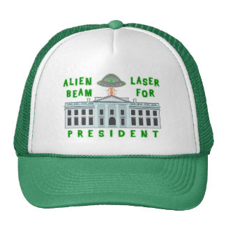 De rayo láser extranjero político divertido del gorras de camionero