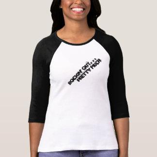 De Rockin camiseta del béisbol hacia fuera -