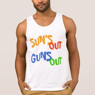 De Sun las camisetas sin mangas hacia fuera