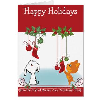 De sus mascotas veterinarios del saludo del día de tarjeta de felicitación