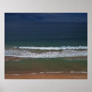 De tormenta de las nubes mar del ot hacia fuera so póster