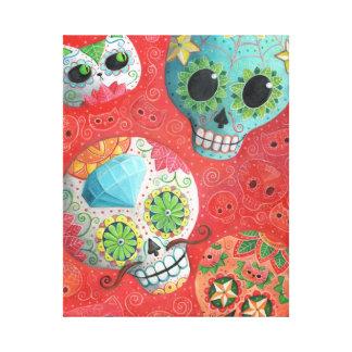 De tres días de los cráneos muertos impresión en lona estirada