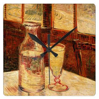 "Reloj Cuadrado De una garrafa de Van Gogh ""vidrio del reloj del"