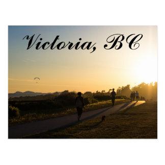 De Victoria postal de la puesta del sol A.C.
