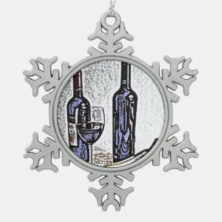 De vino todavía de la botella dibujo de lápiz del adorno