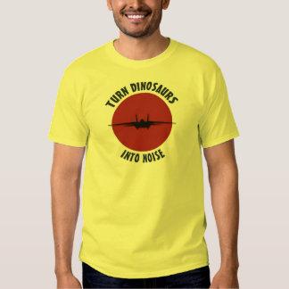 ¡Dé vuelta a los dinosaurios en ruido! Camiseta
