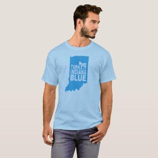 Dé vuelta al estado progresivo azul de la camiseta
