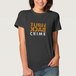 Dé vuelta detrás al Grunge del crimen Camisetas