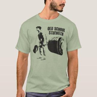 Deadlift - fuerza de la escuela vieja camiseta