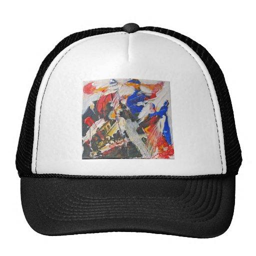 Debajo de él toda la pintura abstracta gorra