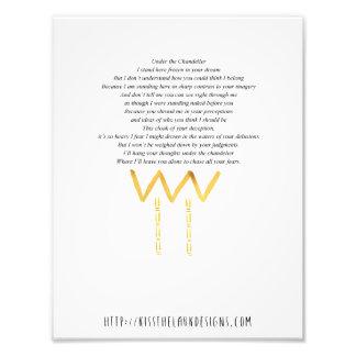 Debajo de la lámpara - poesía 8,5 x 11 imprimible fotografia