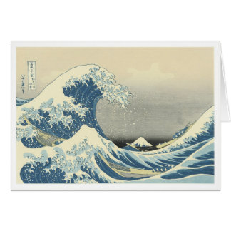 Debajo de la onda de Kamagawa Tarjeta De Felicitación