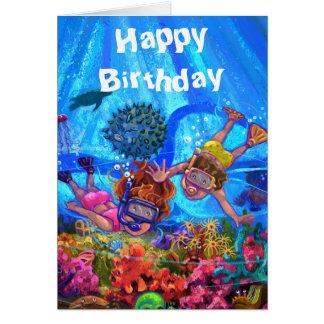Debajo de la tarjeta de cumpleaños del mar