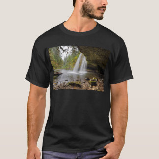 Debajo de mota superior la cala cae en otoño camiseta
