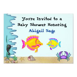 Debajo de pescados de mar la fiesta de bienvenida invitación 12,7 x 17,8 cm