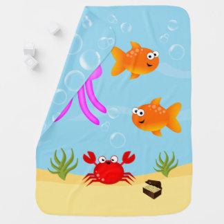 Debajo del mar, caracteres de la diversión mantas de bebé