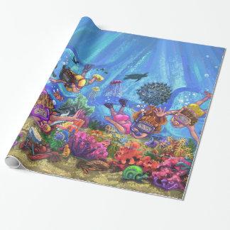 Debajo del mar papel de regalo