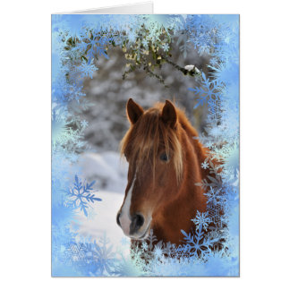 Debajo del muérdago, tarjeta del caballo