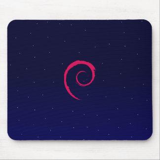 Debian con un fondo del espacio alfombrilla de ratón
