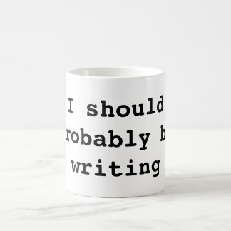 Debo escribir probablemente taza de café