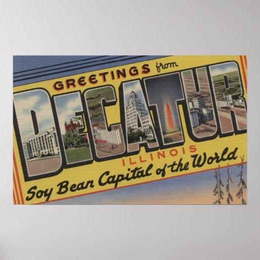 Decatur, Illinois (capital de la haba de la soja) Poster