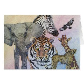 Dechado del safari tarjeta pequeña