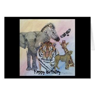 Dechado del safari tarjeta de felicitación