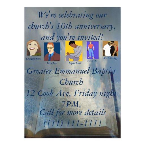 Décimo aniversario de la iglesia comunicado