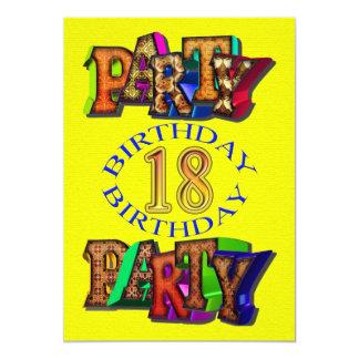 décimo octava invitación de la fiesta de