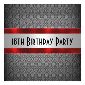 Décimo octava invitación del cumpleaños del hombre