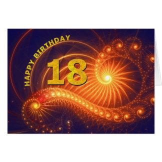 décimo octava tarjeta de cumpleaños