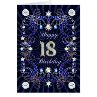 décimo octava tarjeta de cumpleaños con las masas