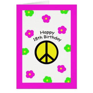Décimo octavas tarjetas de cumpleaños de la paz