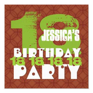 décimo octavo CANELA año B18A de la fiesta de Invitación 13,3 Cm X 13,3cm