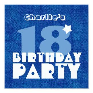 Décimo octavo cumpleaños adolescente moderno invitación 13,3 cm x 13,3cm