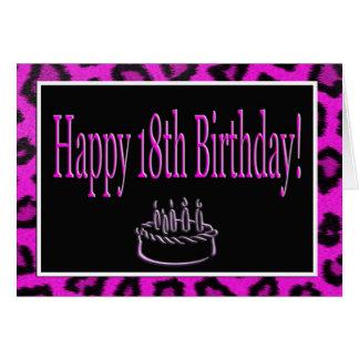 Décimo octavo cumpleaños feliz con los puntos del  tarjetas