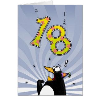 décimo octavo cumpleaños - tarjeta de la sorpresa